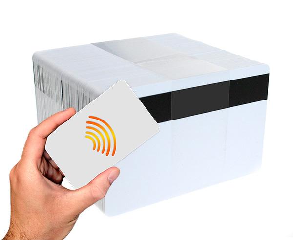 Tarjetas-blancas-MIFARE-Classic-1k-NXP-EV1-con-banda-magnética-Hi-Co